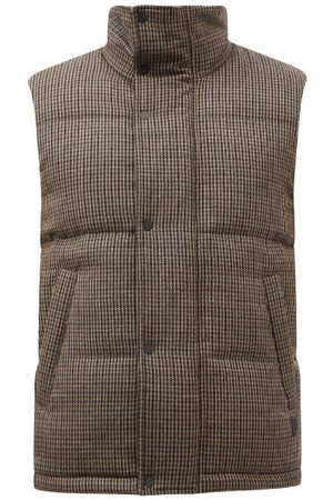 Dunhill Men Gilets - Houndstooth-wool Down Gilet - Mens - Multi