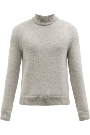 Tom Ford Cashmere And Wool-blend Roll-neck Sweater - Mens - Light Grey