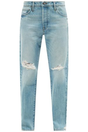 Frame Le Slouch Distressed Straight-leg Jeans - Womens - Light