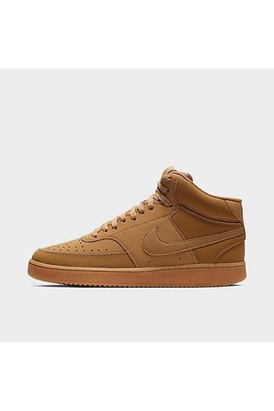 Nike Men Casual Shoes - Men's Court Vision Mid Casual Shoes in / Size 7.5 Leather