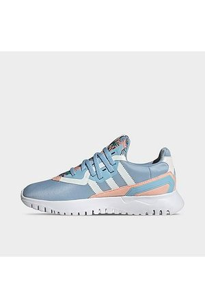 adidas Girls' Big Kids' Originals Flex Casual Shoes in /Haze Coral Size 4.0 Suede