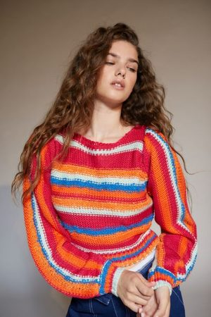 Urban Outfitters Women Sweaters - UO Meadow Mixed Stripe Sweater