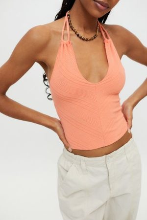Urban Outfitters Women Halterneck Tops - UO Jupiter Convertible Halter Top
