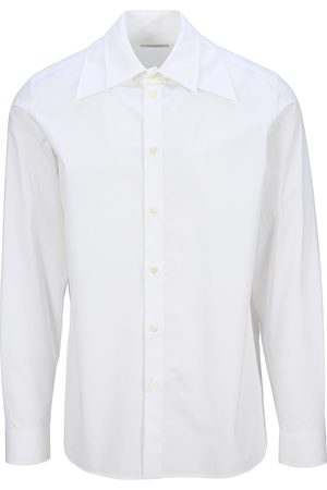 VALENTINO Men Shirts - Cotton poplin shirt with removable wide collar