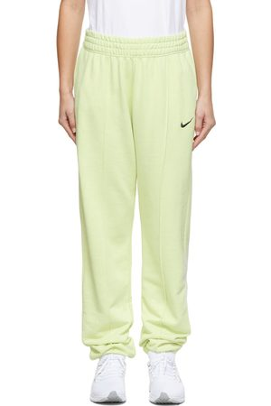Nike Green French Terry Sportswear Essential Lounge Pants