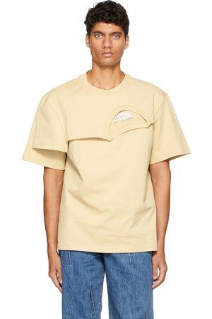 Feng Chen Wang Beige Double Collar T-Shirt