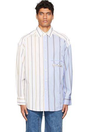 Feng Chen Wang Blue & White Layered Shirt
