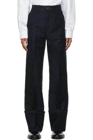 Uniforme Deep Cuffs Wide Chino Trousers