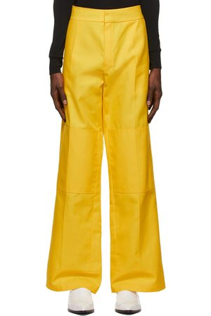 RAF SIMONS Yellow Workwear Kneepatches Trousers