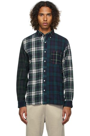 Beams Paneled Nell Shaggy Button-Down Shirt