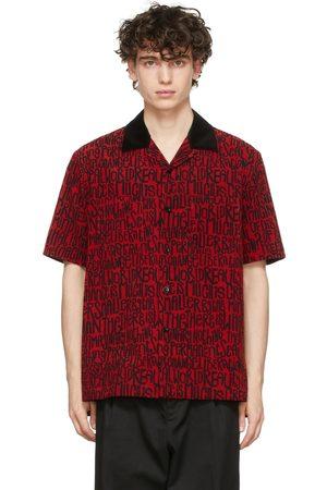 SACAI Red Eric Haze Edition Message Print Short Sleeve Shirt