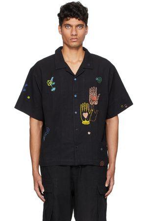Story Black Greetings Short Sleeve Shirt