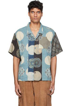 Story Blue Greetings Short Sleeve Shirt