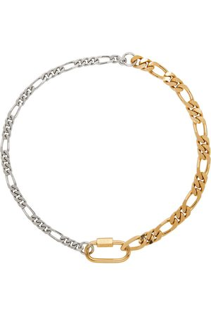 In Gold We Trust & Silver Curb Chain Necklace
