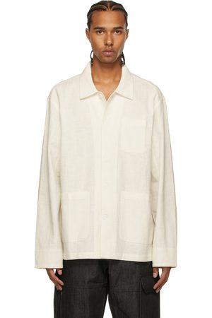 Winnie New York White Linen Chore Shirt