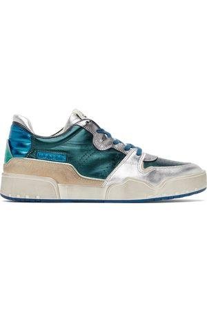 Isabel Marant Green & Silver Edrew Sneakers
