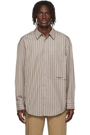 WOOYOUNGMI Striped Back Logo Shirt