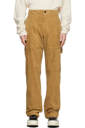 WOOYOUNGMI Brown Baggy Carpenter Trousers