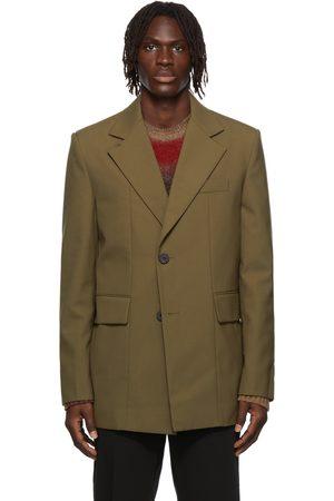 WOOYOUNGMI Men Blazers - Paneled Wool-Blend Blazer