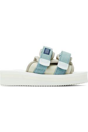SUICOKE Off-White & Blue MOTO-PO Sandals