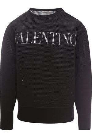VALENTINO Men Sweatshirts - Perforated nylon sweatshirt