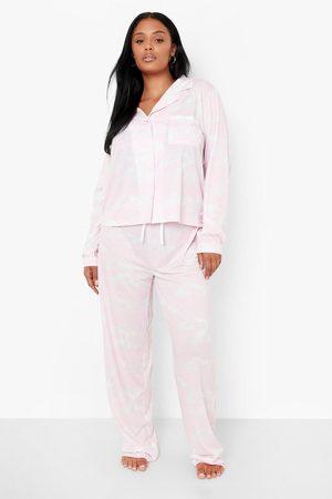 Boohoo Womens Plus Cloud Pyjama Trouser Set - - 24