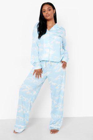 Boohoo Womens Plus Cloud Pyjama Trouser Set - - 12