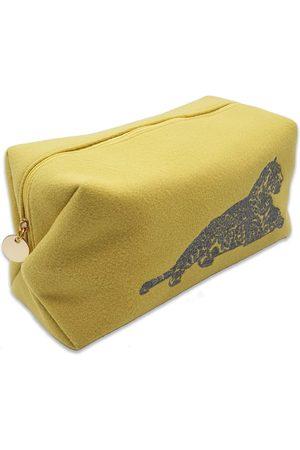 Nooki Women Purses - Lily Felt Wash Bag - Lemon