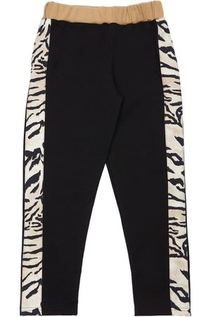 Roberto Cavalli Cotton Pants W/ Zebra Bands