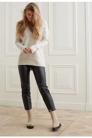 YAYA Women Straight - Faux leather tregging with a straight leg