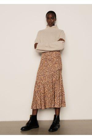 LILY AND LIONEL Women Midi Skirts - Lottie Skirt Vintage Animal Bronze