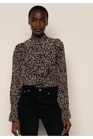 LILY AND LIONEL Women Blouses - Layla Blouse Floral Leopard