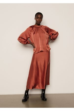 LILY AND LIONEL Women Tops - Helena Top Copper Silk Satin