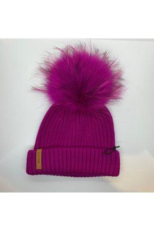 BKLYN Fur Bobble Hat - Fuchsia/ Fuchsia