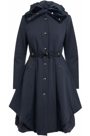 High Avert Long Quilt Coat in Navy