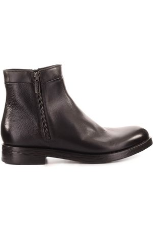 Doucal's DARK ANKLE BOOT WITH ZIP