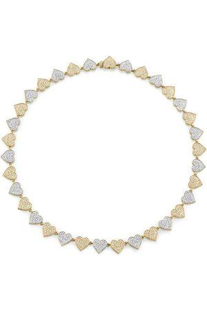 Sydney Evan Women Necklaces - Double Heart Eternity Necklace