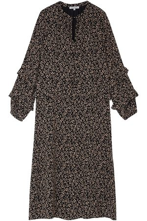 LILY AND LIONEL Women Printed Dresses - Rina Dress - Floral Leopard Black