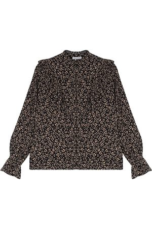 LILY AND LIONEL Layla Printed Blouse - Floral Leopard Black