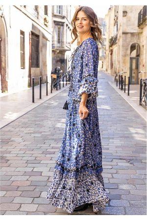 miss june Women Printed Dresses - Wonder Printed Maxi Dress - Texan