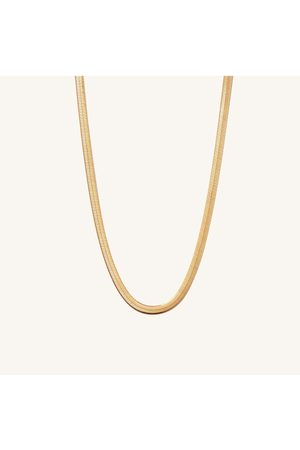 Mejuri Women Necklaces - Bold Herringbone Chain Necklace