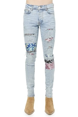 AMIRI Pajama Artpatch Skinny Jeans