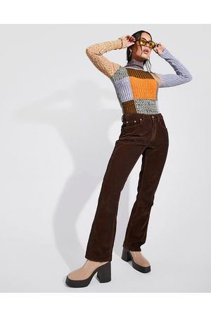 ASOS Women Flares - Low rise rigid flared jeans in chocolate cord