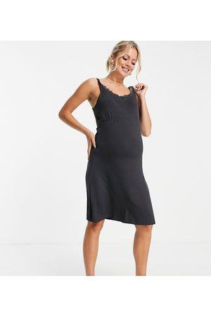 Mama Licious Women Nightdresses & Shirts - Mamalicious Maternity sleeveless nightgown with nursing function in