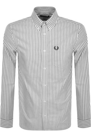 Fred Perry Striped Oxford Long Sleeve Shirt