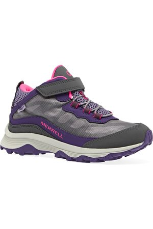 Merrell Moab Speed Mid A/C WP Kids Walking Boots - Grey