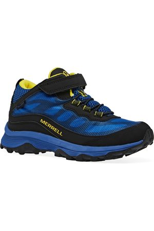 Merrell Outdoor Shoes - Moab Speed Mid A/C WP Kids Walking Boots - Royal