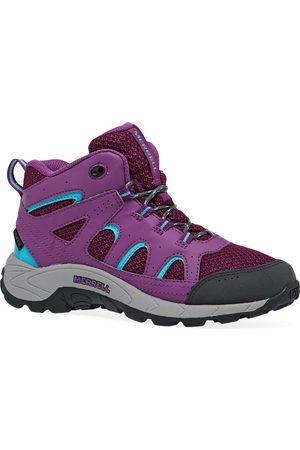 Merrell Oakcreek Mid Lace WP Kids Walking Boots - Paloma Berry