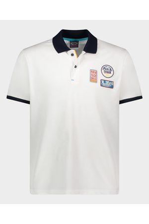 Paul & Shark Organic Cotton Piqué Polo With Nautical Badges