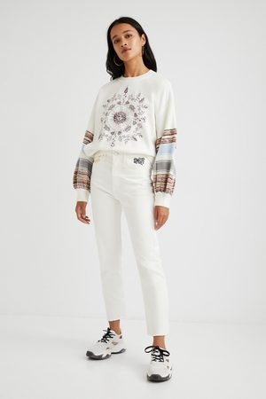 Desigual Straight cropped trousers